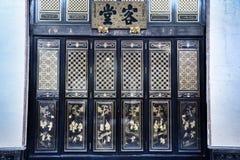 Kinesisk ytterdörrstil Arkivbild