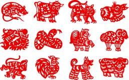 kinesisk zodiac Arkivbilder