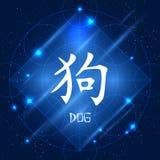 Kinesisk zodiakteckenhund royaltyfri illustrationer