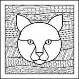 Kinesisk zodiakteckenkatt Arkivfoto