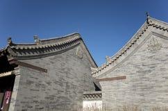 Kinesiska antika arkitektoniska särdrag Arkivfoton