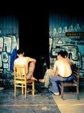 Kinesiska arbetare på ett avbrott Fotografering för Bildbyråer