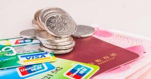 Kinesiska bankbesparingar och förbrukning Royaltyfria Bilder