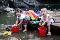 kinesiska barn Fotografering för Bildbyråer