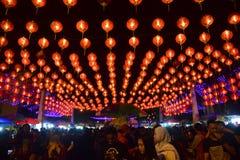 Kinesiska berömmar för nytt år i Surakarta Royaltyfri Fotografi