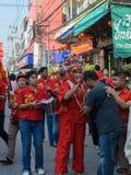 Kinesiska berömmar för nytt år i Thailand Arkivbild