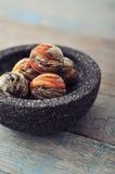 Kinesiska bollar för grönt te Arkivfoto