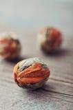 Kinesiska bollar för grönt te Arkivbild
