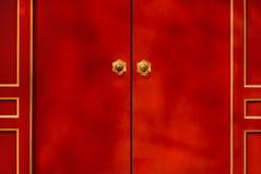 kinesiska dörrar Arkivbilder