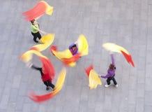 kinesiska dansare arkivbild