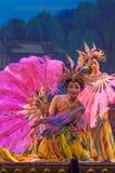 Kinesiska dansare på etapp Royaltyfri Fotografi