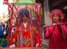kinesiska dansfolk för aktris Arkivbild
