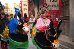 kinesiska dansfolk för aktris Royaltyfria Bilder