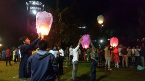 Kinesiska Diwali lyktor arkivbilder