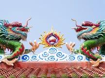 kinesiska drakar Arkivfoton