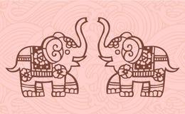 kinesiska elefanter Royaltyfri Illustrationer