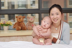 Kinesiska familjer Arkivfoto