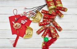 Kinesiska festivalgarneringar för nytt år Arkivbilder