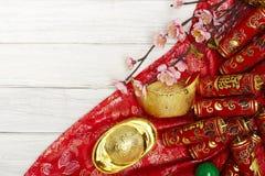 Kinesiska festivalgarneringar för nytt år Arkivbild