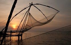 Kinesiska fisknät Royaltyfri Fotografi