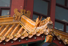 Kinesiska forntida architecture brackets royaltyfri bild