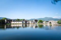 Kinesiska forntida byar Fotografering för Bildbyråer