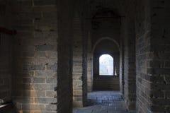 Kinesiska forntida byggnader, den stora väggen Royaltyfri Fotografi
