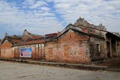 Kinesiska forntida folkhus i bygd Royaltyfri Fotografi