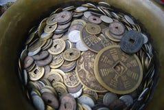 Kinesiska forntida mynt Fotografering för Bildbyråer