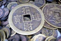 Kinesiska forntida mynt Arkivfoto