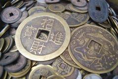 Kinesiska forntida mynt Royaltyfria Bilder