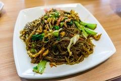 Kinesiska Fried Glass Noodles royaltyfri fotografi