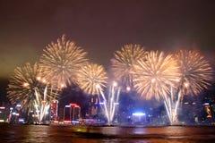 Kinesiska fyrverkerier 2013 för nytt år royaltyfria foton