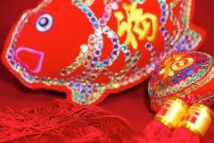 Kinesiska garneringar för nytt år, Arkivbild