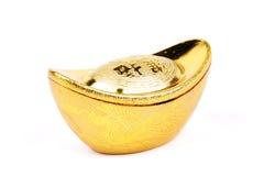 kinesiska guldtackor isolerade whi Royaltyfri Bild