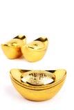 kinesiska guldtackor isolerade whi Royaltyfri Fotografi