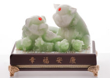 kinesiska jadepigpiggys arkivfoto