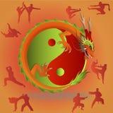 Kinesiska kampsporter och tai-chi Arkivbilder