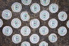 Kinesiska keramiska tegelplattor Arkivbilder