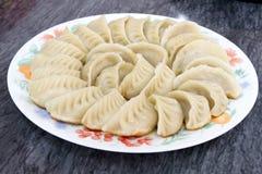 kinesiska klimpar plate potstickers Royaltyfria Bilder