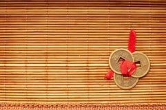 Kinesiska lyckliga mynt Fotografering för Bildbyråer