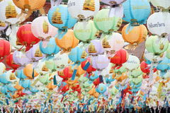 kinesiska lyktor Arkivfoto