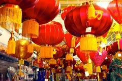 kinesiska lyktor Fotografering för Bildbyråer