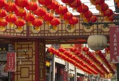 kinesiska lyktor Arkivbild