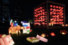 Kinesiska lyktor för mitt--höst festival royaltyfria foton