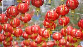 Kinesiska lyktor för nytt år i chinatown lager videofilmer
