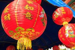 Kinesiska lyktor i kinesisk dag för nya år Fotografering för Bildbyråer