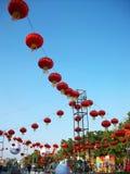 Kinesiska lyktor under royaltyfri foto