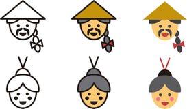 Kinesiska man- och kvinnasymboler Arkivfoton