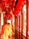 kinesiska monks arkivfoton